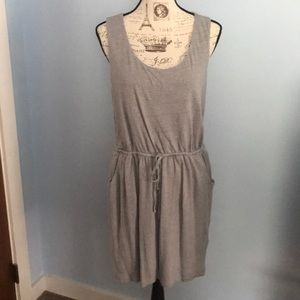 Cynthia Rowley 100% Linen Tie-Waist Tank Dress